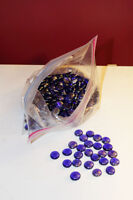 Huge Bag Of Shiny Flat Blue Decorative Marbles