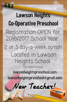 Lawson Heights Cooperative Preschool - Registration OPEN!
