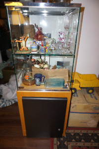 Beautiful Glass Display Cabinet with wooden storage