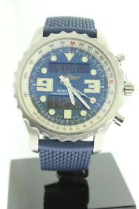 Breitling Chronospace 49mm Blue Dial & Rubber Swiss Qtz A78365