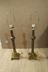 2 Lamps and 4 Lamp Shades
