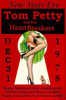 Classic Rock: Tom Petty & Heartbreakers at Santa Monica New Years Poster 1978