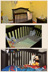 Solid wood crib. Excellent condition