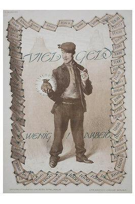 Georg Tippel (1875-1917) - Wenig Arbeit - Jugendstil