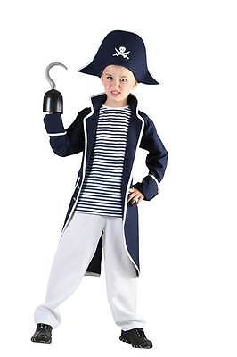 Pirata Capitán Garfio, Disfraz para Niño, Niños Libro Semana, Pequeño