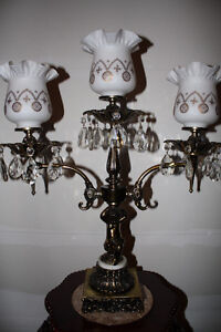 Vintage Brass, Marble and Crystal Lamp Kingston Kingston Area image 2
