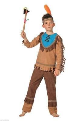 Indianer Kostüm Apache Sioux Indianerkostüm Indianeranzug Kinder Anzug (Kinder Indianer Junge Kostüm)