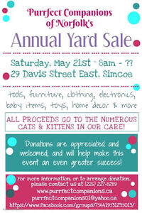 PURRFECT COMPANIONS OF NORFOLK ANNUAL YARD SALE