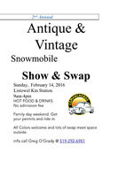 Antique and Vintage Snowmobile show and swap meet