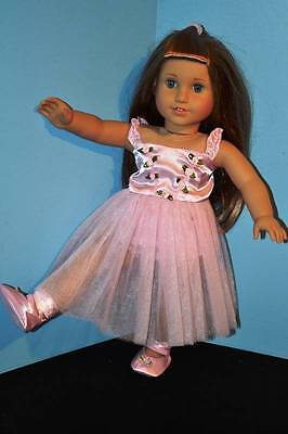Awesome Pink Ballerina Tutu Outfit for all 18 Inch Dolls-Dance, Christmas Gift ()