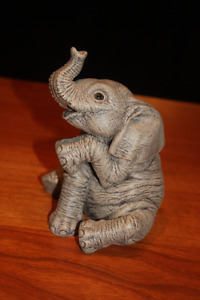 "Martha Carey ""The Herd"" collectible elephant - Peanut"