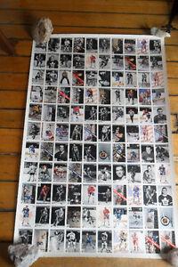 Uncut sheet hockey cards