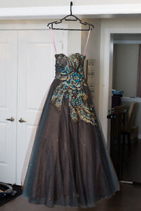 Peacock Prom Dress / Evening Gown Pink by Alexia Design Size 2
