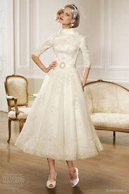 Ronald Joyce vintage wedding dress size 8/10