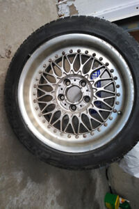 "2000 BMW 17"" rims x 5 with tires"