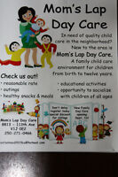 Mom'Lap Day Care have 1 full time/1 part time spot available