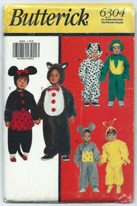 Sewing Pattern, Children's Animal Costumes for Halloween