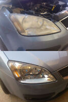 ,rennovation des phares jaunis ou oxydé headlight cleaning
