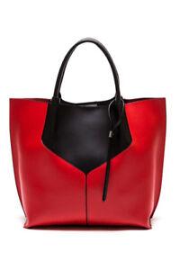 ***NEW***Anna Luchinni (Cagliari Leather Tote Bag in Red & Back)