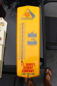 PORTLAND ST MARYS BOWMANVILLE CEMENT THERMOMETER SIGN