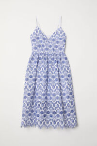H&M Eyelet Embroidery Dress - New with Tags (US size 2, xs)