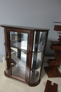 Curved Glass China/Display Wall Cabinet