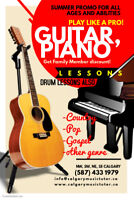 Piano, guitar and Drums lessons Calgary