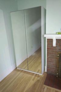 Armoiresde chambre avec Miroir en Mélanine Blanche