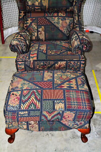 Arm chair and matching ottoman London Ontario image 1