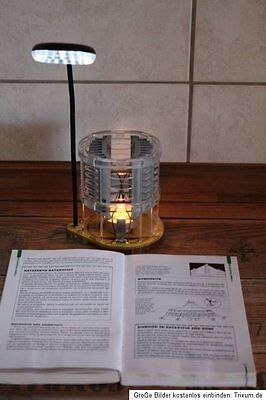 Gift idea Gaged thermoelectric LED Reading lamp Power generator from heat