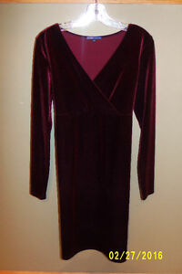 Red Velour Dress From Thyme Maternity