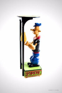 Large Wooden Handcraft Folk Art POPEYE with Mech. BOXING MOTION