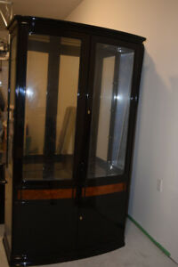 Black China Cabinet in Good Condition