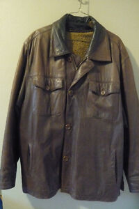 Timberland brown leather jacket with removable lining Peterborough Peterborough Area image 1