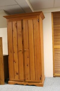 Beautiful Pine Armoire/Wardrobe w/Shelves