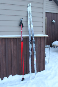 NEW PRICE Salomon XC ski set: skis, bindings, poles, boots