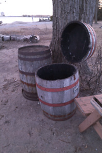 Two Whisky Barrels - One Solid - One Modified - p/u Bowmanville