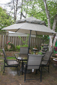 Patio Set Table with four Chairs. Everything is good shape.