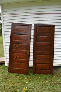 5 vintage solid wood doors