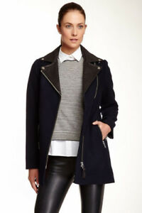 Mackage Phylis Wool Coat With Leather Details xxs