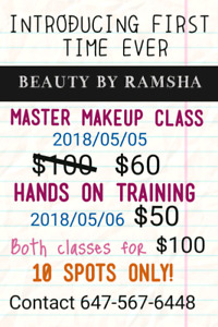 $60 MAKEUP CLASSES ON A SALE FIRST TIME EVER
