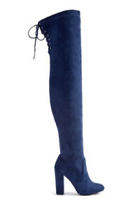 WINTER SPRING NEW FAUX SUEDE THIGH HIGH BOOTS WITH LACE WOMEN 11