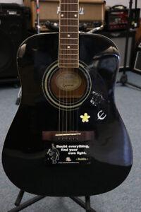 **AFFORDABLE** Acoustic Epiphone Guitar DR100BK (#16385)