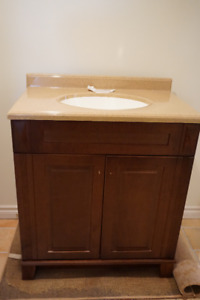 Bathroom Vanity,Topand Mirror-New, Removed from Box for Pic