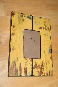 Yellow rustic-looking frame for 4 x 6 photograph