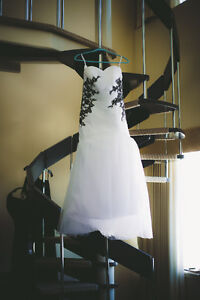 Wedding dress and pearls