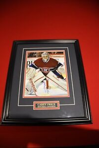 *Carey Price Certified Autograph Frame Photo Montreal Canadiens*