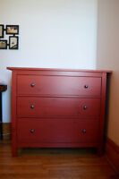 Ikea chest of drawers-red. perfect conditions