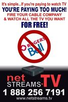 DITCH YOUR CABLE BILL FOREVER! - Watch for FREE - netSTREAMS.tv