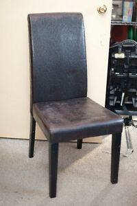 7 leather dining room chairs